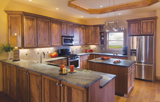 ... Falmouth in Rustic Hickory in Kona with Chocolate Glaze modern-kitchen