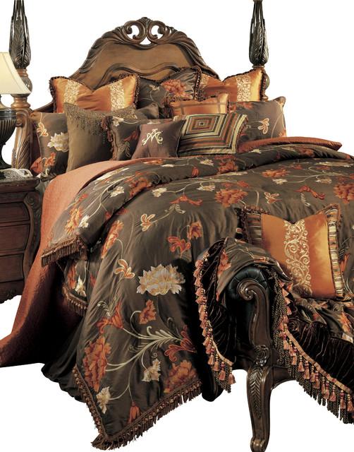 Grand Fleur King 13 pc. Comforter Set traditional-bedding