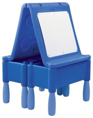Wesco Chameleon Dry Erase Double Easel with Legs and Storage modern-kids-tables