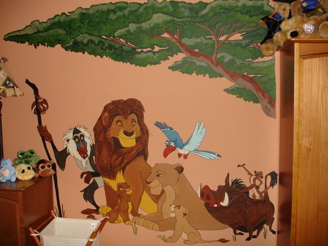 Http Www Houzz Co Uk Photos 573368 Mural Lion King Tropical Artwork Toronto