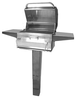 Legacy 22sc01cg6 In Ground Post Charcoal Grill With Smoker