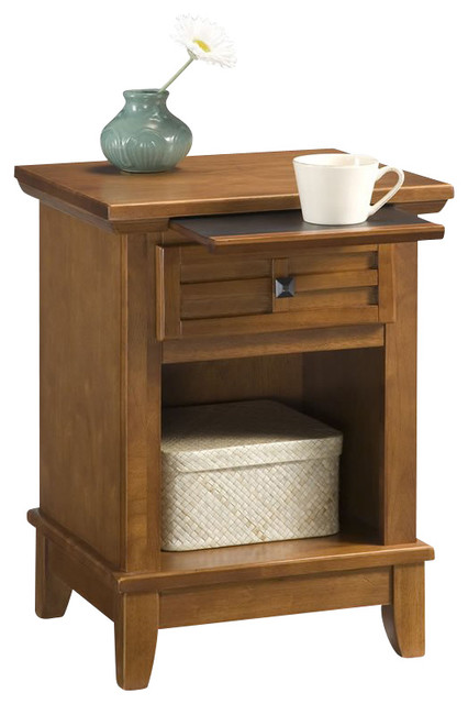 Arts And Crafts Nightstand Cottage Oak Transitional