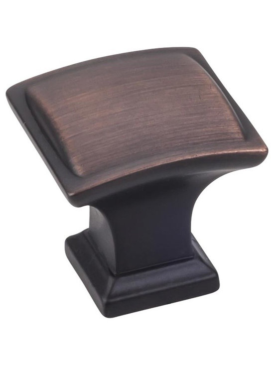 Jeffrey Alexander 435DBAC Cabinet Knob - Annadale Series - Brushed Oil Rubbed Br - This brushed oil rubbed bronze finish square cabinet knob with pillow design is a part of the Annadale Series from Jeffrey Alexander. A perfect blend of craftmanship in traditional and contemporary design to complement any decor.