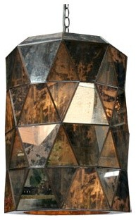 Antiqued Mirror Lantern contemporary pendant lighting