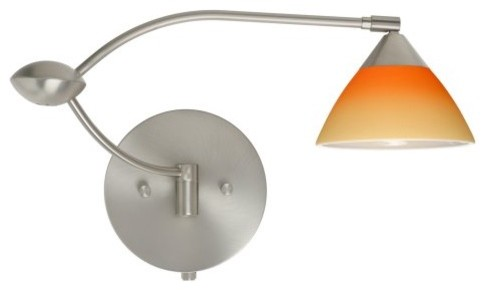 Besa 1WU-1743OP Bicolor pina-orange Domi Wall Light - 13W in. contemporary wall sconces