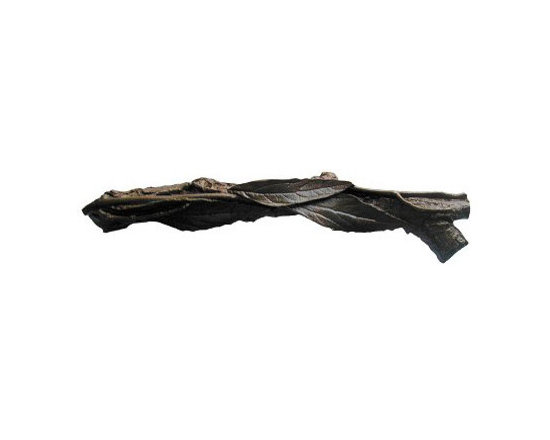 """Inviting Home - Leafy Twig Pull - Right (dark brass) - Hand-cast Leafy Twig Pull - Right in dark brass finish ; 4-7/8""""W x 7/8""""H; Product Specification: Made in the USA. Fine-art foundry hand-pours and hand finished hardware knobs and pulls using Old World methods. Lifetime guaranteed against flaws in craftsmanship. Exceptional clarity of details and depth of relief. All knobs and pulls are hand cast from solid fine pewter or solid bronze. The term antique refers to special methods of treating metal so there is contrast between relief and recessed areas. Knobs and Pulls are lacquered to protect the finish."""