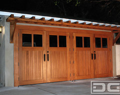 Real Carriage House Style Garage Doors | Custom Designed & Manufactured in CA! traditional-garage-doors