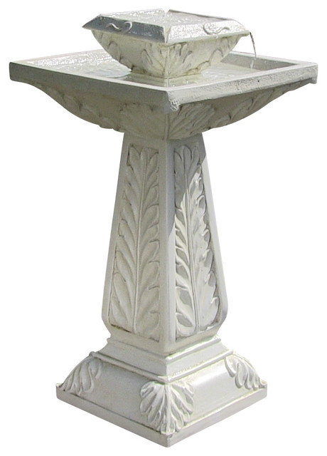 Richfield Solar-on-Demand Tiered Birdbath Fountain traditional-outdoor-fountains-and-ponds