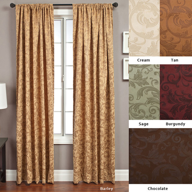 Livingston Rod Pocket 96 Inch Curtain Panel Contemporary Curtains By