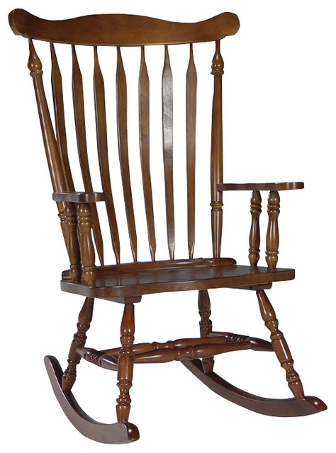 Concepts solid wood rocker in cottage oak transitional rocking chairs