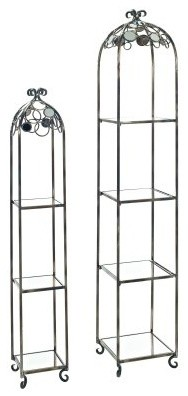Powell Reflections Etagere - Set of 2 traditional-storage-cabinets