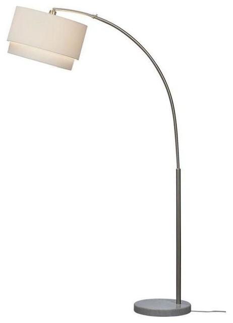 pre owned crate barrel meryl arc lamp contemporary. Black Bedroom Furniture Sets. Home Design Ideas