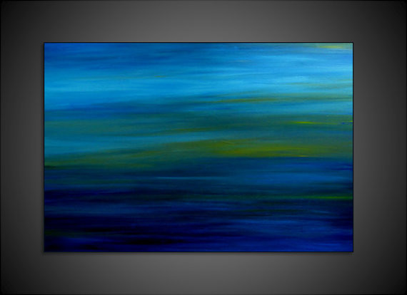 Original Abstract Landscape Sea Scape Acrylic Modern