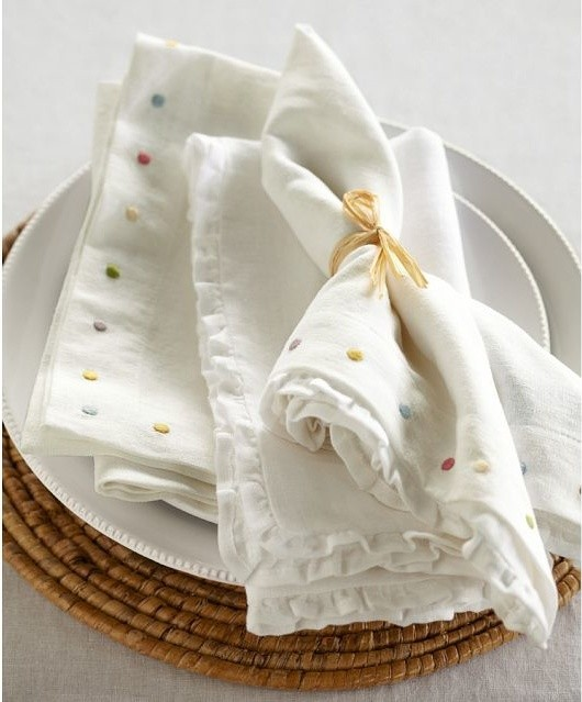 Easter Multi Dot Napkins Contemporary Napkins By