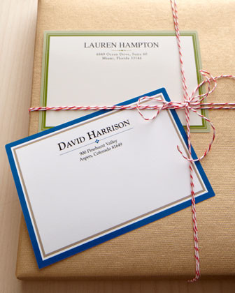 100 Personalized Mailing Labels traditional-desks