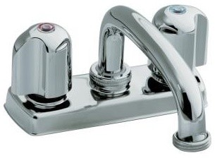 KOHLER K-11935-U-CP Trend Laundry Tray Faucet with Threaded Swing Spout and Meta traditional-kitchen-faucets