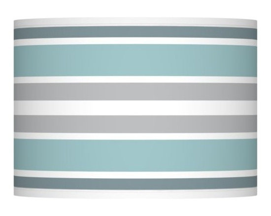 Multi Color Stripes 13 1/2-Inches-W Lamp Shade -