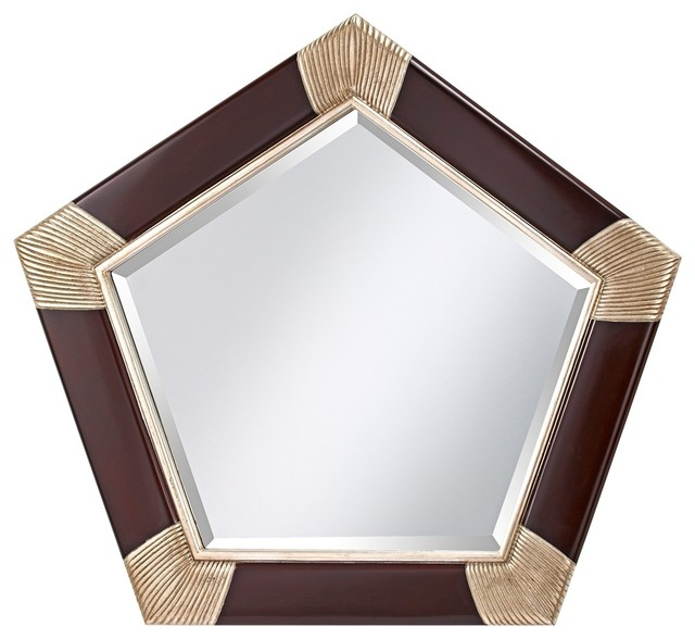 "Murray Feiss Mirrors: Feiss Penelope 41 3/4"" Wide Pentagon Wall Mirror"