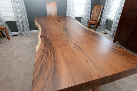 Natural Edge Slab Dining Table modern-dining-tables