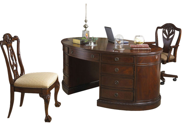 Antebellum Oval Desk Traditional Desks And Hutches