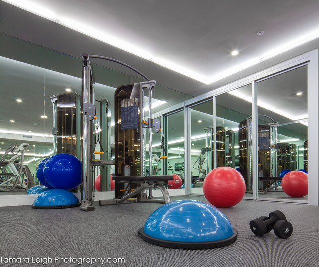 Gym - contemporary - home gym - los angeles - by dRichards Interiors