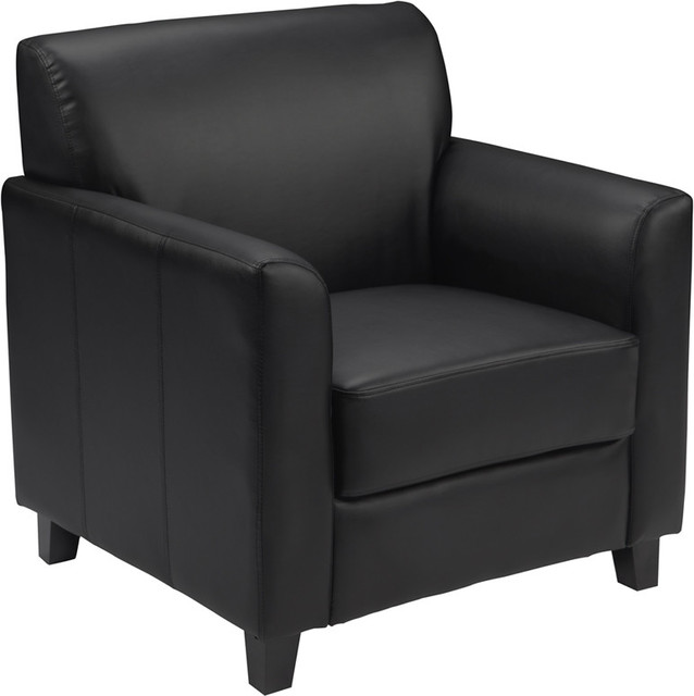 Black Leather Chair Traditional Armchairs And Accent