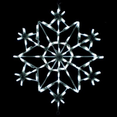 28 in. Outdoor LED Snowflake Kaleidoscope Display - 100 Bulbs modern-outdoor-holiday-decorations