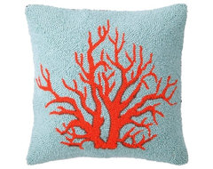 Phi Coral Red Hook Pillow eclectic pillows