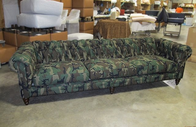Camo Sectional Sofa http://www.houzz.com/photos/778311/The-Epic-Camo-Chesterfield-eclectic-sofas-charlotte