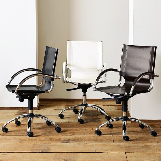 Swivel Leather Desk Chair modern-office-chairs