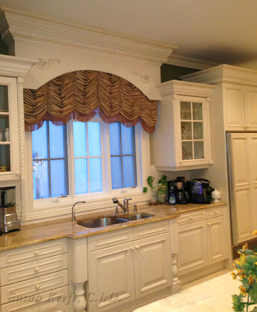 Kitchen Window Treatment Traditional Kitchen New