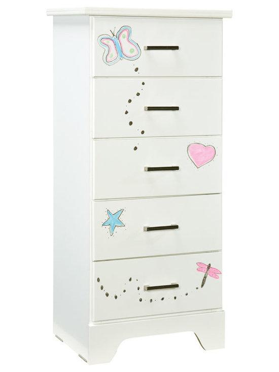 Bedrooms Furniture - Lite Bright White Chest,Lingerie