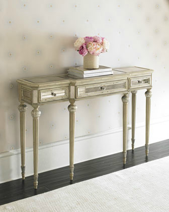 Dresden Mirrored Console traditional side tables and accent tables