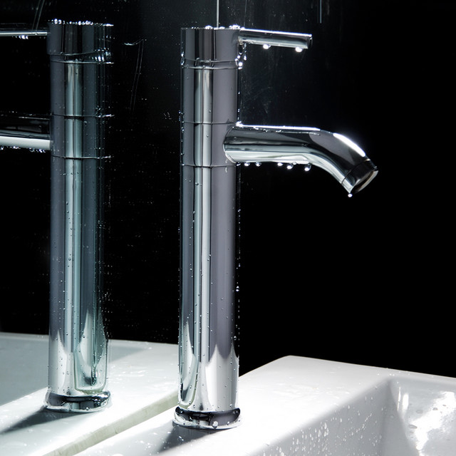 Single Handle Tall Bathroom Faucet contemporary-bathroom-faucets-and ...