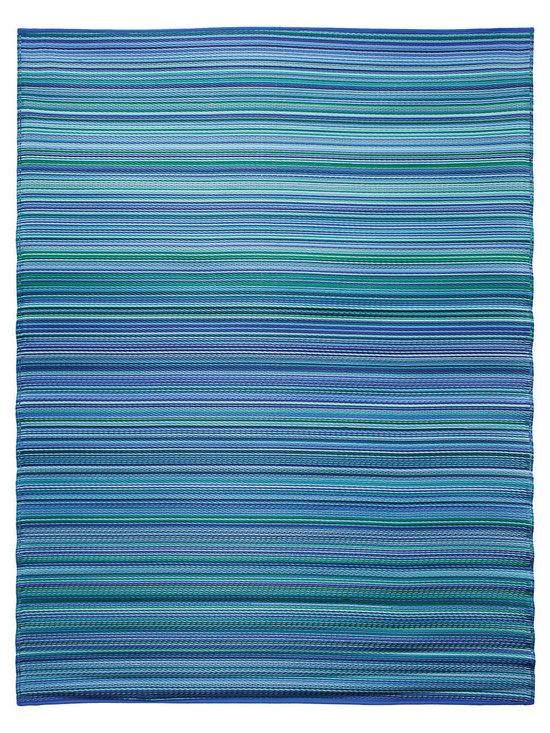 KOKO - Melange Floormat - 6' x 8' - Bubble Gum Blue Mix - The colors of this floor mat are a pretty addition to any casual area, indoors or out. You'll love the look — and the easy care: just hose clean and drip dry.