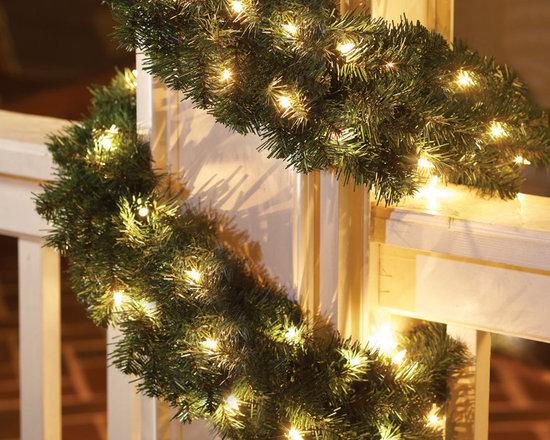 Home Accents Holiday 20 ft Per-Lit Nobel Fir Garland -