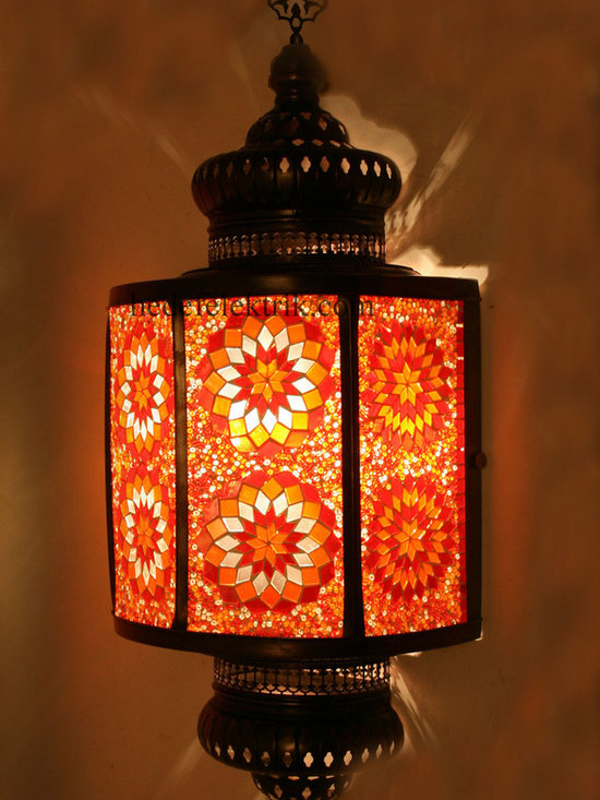 Red Turkish Style Mosaic Lighting Wall Sconce - Code: HD-20003_20