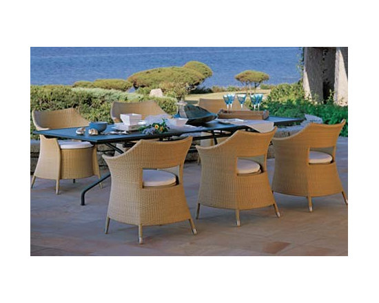 Dafne Wicker Armchair By Emuamericas - The Dafne Wicker Armchair is built with an admirable Italian design with a slight Oriental touch. The Dafne Wicker Armchair will put you at ease while you relax, no matter where you are. There is an uncanny resemblance between the roofs of a Buddhist pagoda and the overall structure of the Dafne Wicker Armchair. Quite an inspirational design. Sourced from the popular brand Emu, the Dafne Wicker Armchair portrays a lot of enthusiasm and modern Italian creativity.