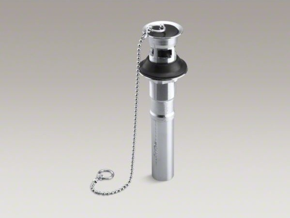Kohler Sink Drain : KOHLER Bathroom sink drain with overflow and rubber stopper with chain ...