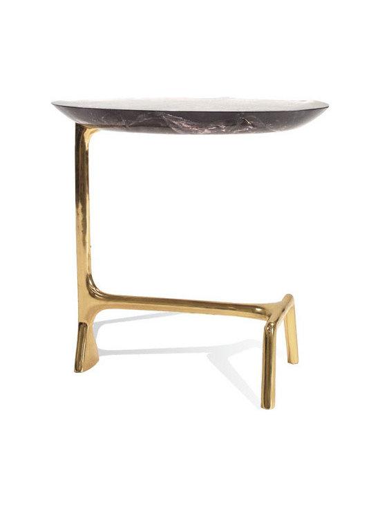 SCALA LUXURY - UOVO SIDE TABLE BRASS RESIN