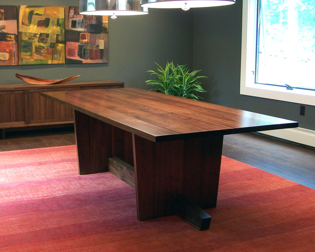 Mid Century Dining Table Modern Dining Tables Other Metro By