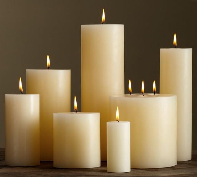 PB Pillar Candle, Ivory