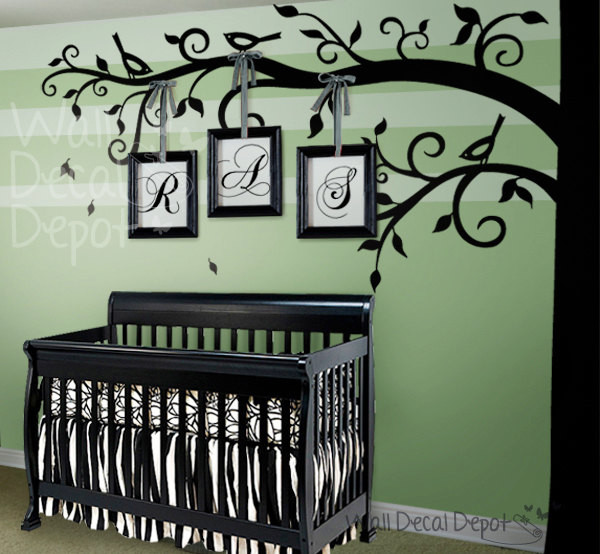Tree wall decal modern nursery decor other metro for Baby room decoration wall stickers