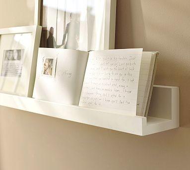 holman picture ledge 4 39 antique white traditional. Black Bedroom Furniture Sets. Home Design Ideas