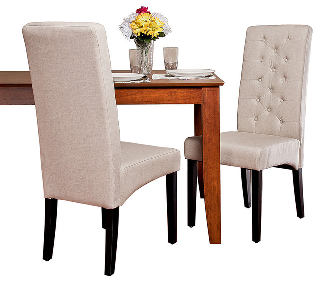 darby tall back linen dining chairs set of 2