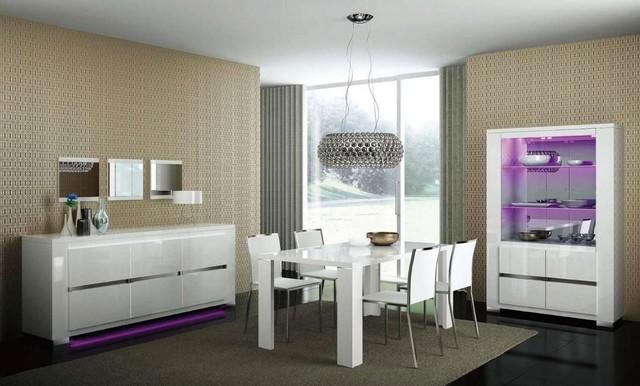 Extendable Wooden Italian Dinner Furniture Set modern-dining-tables