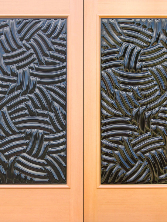 """Sculptural Glass Doors - """"Canoodle"""" Glass Double Doors from SGD -"""