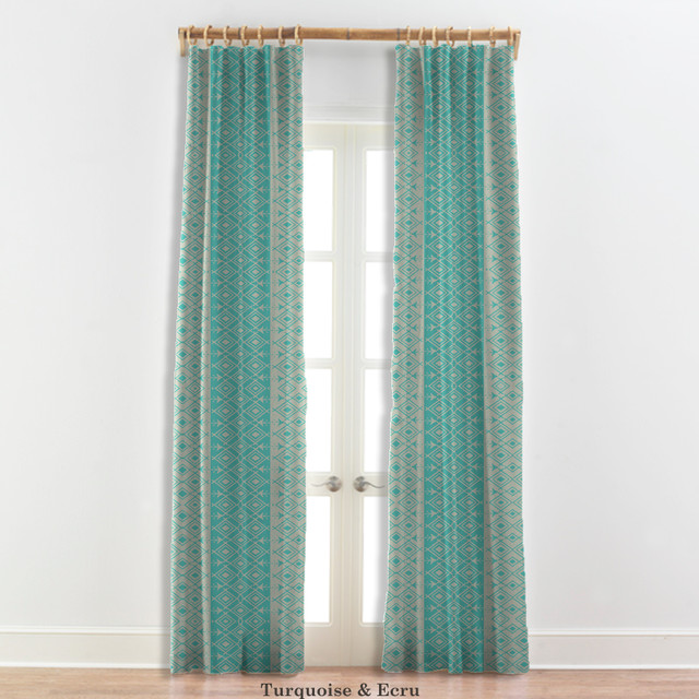 moroccan curtains in turquoise white 22 other colors contemporary