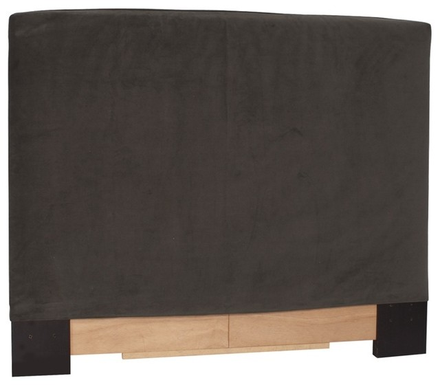 Bella Pewter Full-Queen Slipcovered Headboard contemporary-slipcovers-and-chair-covers