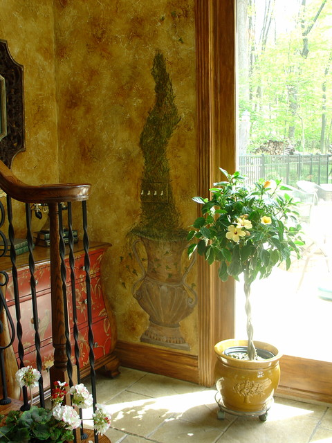 Old World flair , Great room traditional